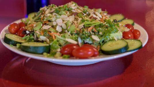 asian salad dinner