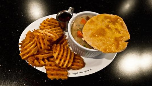 yummy chicken pot pie dinner