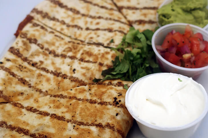 quesadilla dinner on plate - best quesadilla dinner and diner in portsmouth nh