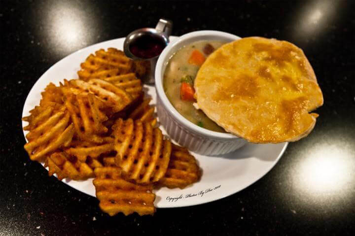 roundabout soup and waffle fries