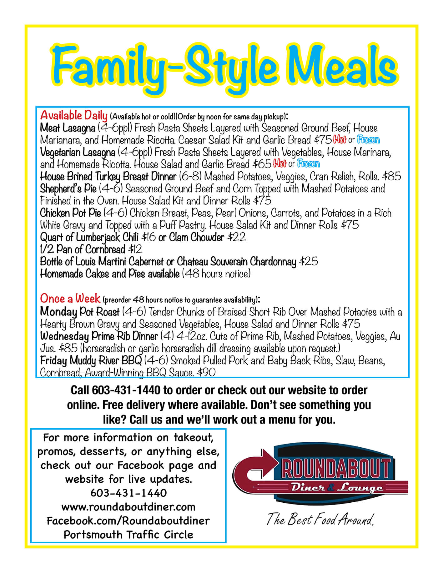 new family meals