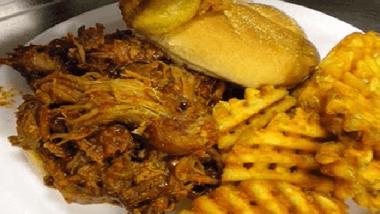 phantom gourmet's best pulled bbq pulled pork sandwich in portsmouth nh