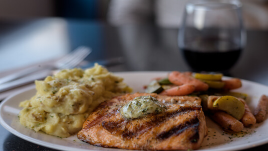 healthy salmon dinner choice in portsmouth nh